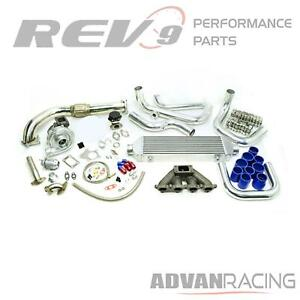 Rev9 Tck 003 T3t4 Turbo Kit Starter Pack For Honda D15 D16 Sohc Motor Civic