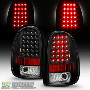 Black 1996 2000 Dodge Caravan Voyager 98 03 Durango Led Tail Lights Brake Lamps
