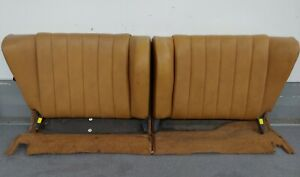 Nice Clean Pair Used Original Porsche 911 912 912e 930 Tan Rear Seat Backs 10