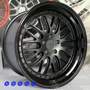 Xxr 570 Wheels 20 25 Flat Black Gloss Lip Rims Staggered Fit Nissan 350z Nismo