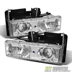 88 98 Chevy C K 1500 C10 Full Size Projector Headlights Lights Lamps Left Right
