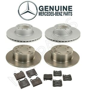 For Mercedes W126 380se 450sl Front And Rear Brake Discs And Pads Genuine Kit