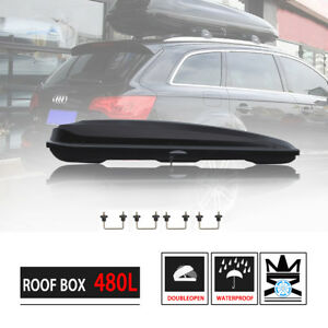 16 Cu Ft Larger Car Suv Roof Mount Carrier Cargo Box Road Trip Carpooling Storag