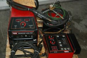 Lincoln Invertec V350 pro Welder With Ln10 Wire Drive complete System