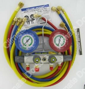 Yellow Jacket 46022 Brute Ii Manifold 3 1 8 Gauges 60 Hoses R 12 22 502