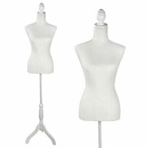 Female Dress Form Pinnable Mannequin Body Torso With Iron Tripod Base Stand Aa4