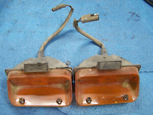 Mopar 1968 Chrysler Park Turn Lights Lamps 68 Newport New Yorker Front Bumper