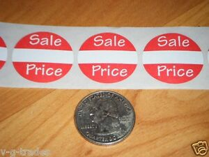 100 Self adhesive Sales Price Labels 1 Stickers Tags Retail Store Supplies