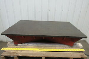 48 x 30 Cast Iron Webbed Machined Top Layout Calibration Surface Plate