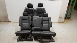 2017 Jeep Grand Cherokee Trailhawk Seats Front Rear Left Right Black Leather Oem