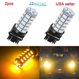 2 X Amber Yellow 3157a 3457a 4157na 3157 68 Smd Parking Bulb Lamp Led Lights
