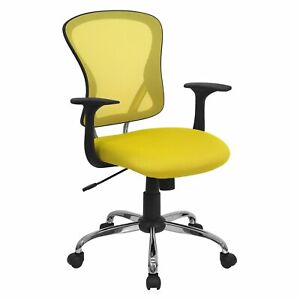 Mesh Desk Chair With Chrome Base Office Furniture Chairs Stools