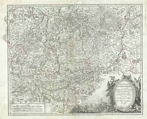 1752 Vaugondy Map Of Southern Brabant Near Brussels Belgium And Luxembourg