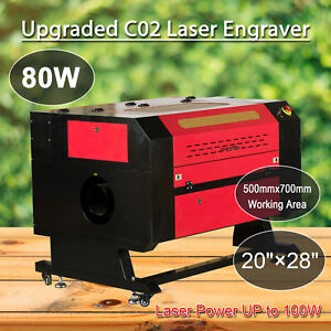 80w Co2 Usb Laser Engraving Cutter 500x700mm Cutting Machine Engraver New