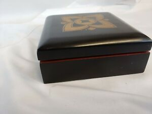 Nice Not Too Old Japanese Lacquerware Box 6 Great Details