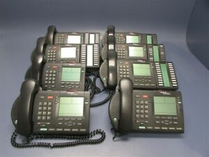 Used Lot Of 8 Nortel Networks Ntmn34fb70 m3904 Charcoal Telephones