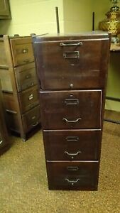 Weis Vintage Antique Wood Filing Cabinet Wooden Mission Style 2