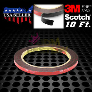 Genuine 3m Vhb 5952 Double Sided Mounting Foam Tape Automotive Car 6mm X 10ft
