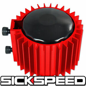 Red Engine Oil Filter Cooler Heat Sink Cover Cap Billet Aluminum Kit Ef Eg