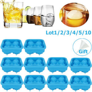 Whiskey Ice Cube Ball Maker Mold Sphere Mould Party Tray Round Bar Silicone Lot