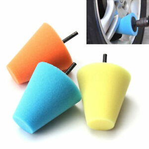 Burnishing Foam Sponge Polishing Cone Shaped Buffing Pads Car Wheel Hub Supplies