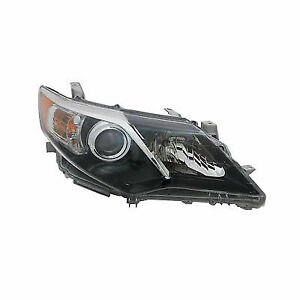 New Right Side Headlight 2012 2013 2014 Toyota Camry Se Black Trim 114 51500r