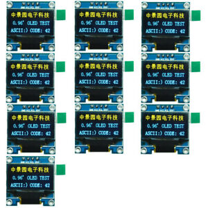 10x 0 96in I2c Iic Serial 128x64 Oled Lcd Led Display Module Ssd1306 For Arduino