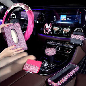Pink Car Rhinestone Car Steering Wheel Cover Car Accessories For Car Decoration