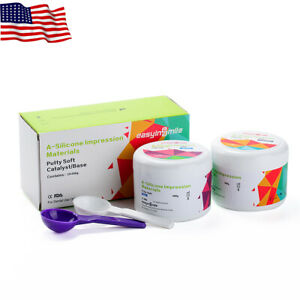 Dental Putty Impression Material Set A silicone Material Base Catalyst 400g 2
