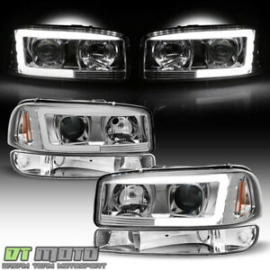 1999 2006 Gmc Sierra Yukon Led Tube Projector Headlights Headlamps Bumper Lights