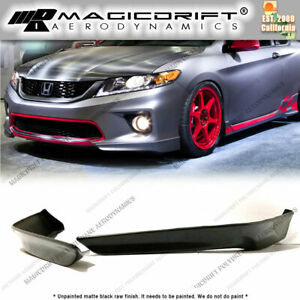 For 13 14 15 Honda Accord 2dr Coupes Hfp Oe Sport Front Bumper Corner Lip Kit