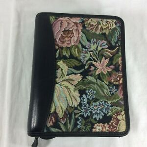 Leather Floral Compact Franklin Covey Quest Planner Binder Organizer Fabric