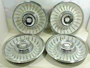 1961 1962 Cadillac Hubcaps White