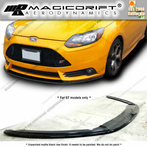 For 13 14 Ford Focus St Splitter Style Front Bumper Chin Lip Spoiler Urethane
