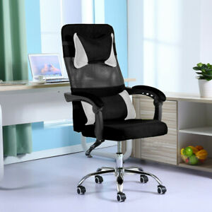 Office High Back Recliner Seat Gaming Chair Race Style Nylon Swivel Adjustable