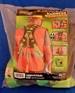 Upgear Safety Harness Body Fall Protection Snap in Easy Wear Green Harness