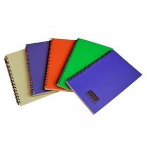 Neelgagan Writing Pad Spiral Pocket Notebook Ruled Line 200 Pages Pack Of 5