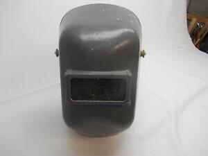 Old Vtg Welder s Helmet Face Mask Welding Halloween Prop Industrial Steam Punk