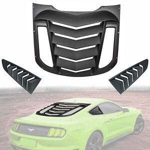 Rear And Side Window Louvers Sun Shade Cover For 2015 2019 Ford Mustang 3pc