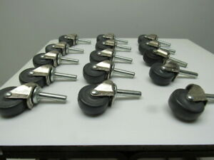 Bassick 2 Rubber Non Marking Stem Mount Swivel Caster Lot Of 15