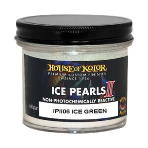 House Of Kolor Ipii06 C01 Ice Pearls Green Ii Custom Sparkle Effect 2 Oz