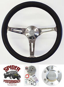 1969 1973 Camaro Nova Steering Wheel Ss 15 Black Leather Muscle Car