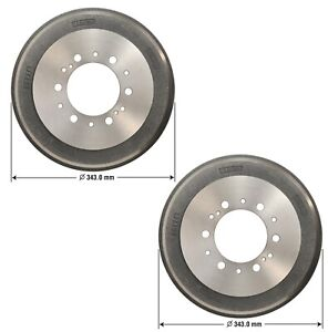 Pair Set Of 2 Rear Left Right Brake Drums Omni For Toyota Pickup Tacoma 4wd