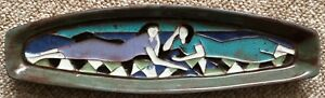 Vintage 60s Harris Strong Ceramic Modernist Women Decorative Dish Mid Century