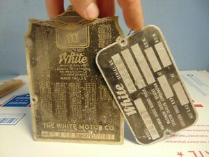 1950 s White Truck Model 9000t Body Tag Original Rat Rod L k