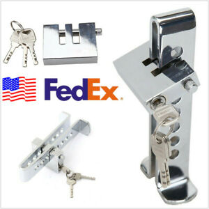 Usa Shipping Autos Anti Theft Device 8 Holes Clutch Pedal Brake Lock With 3 Keys