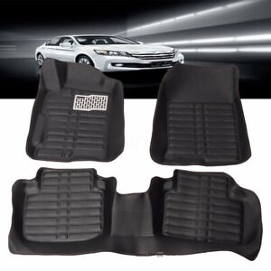 Us All Weather Car Floor Mats Front Rear Liner Black For Honda Accord 2013 2016