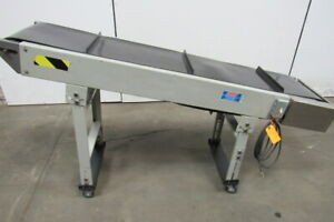 Pacemaker Incline Cleated Small Parts Conveyor 68 x14 73fpm 36 Discharge 115v