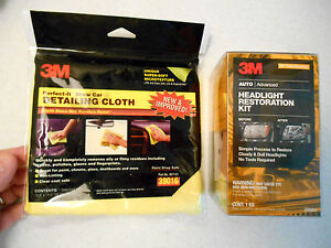 New 1 3m 39084 Headlight Restoration Kit Plus 1 Detailing Cloth 39016