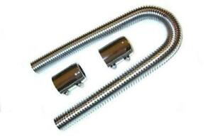 Universal 36 Stainless Steel Radiator Hose Kit With 2 Chrome Caps Hot Rod